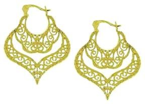 Vermeil Gold Antique Design Filigree Earrings