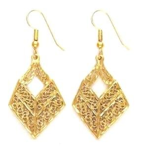 Filigree Design Russian CZ Earrings Guaranteed