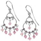 Pink Swarovski Crystal Chandelier Earrings