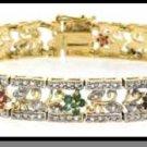 Genuine Diamond, Ruby, Sapphire & Emerald Bracelet
