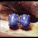 Star Sapphire 8x6 Oval Post Stud Earrings