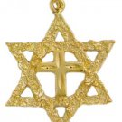 Antique Style Messianic Jewish Symbol Pendant