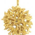 Gold Layered Hebrew Tree Of Life Pendant