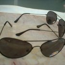 Classic Aviator Polarized Sunglasses Black Frames Smoke Lenses