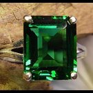 Mt St Helens Helenite 12x10 Emerald Cut Ring