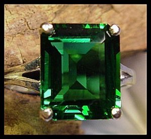 Mt St Helens Helenite 12x10 Emerald Cut Ring