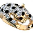 Leopard Swarovski Crystal Ring Size Choice