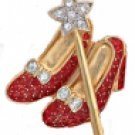 Ruby Red Dorothy Slippers Broach Pin Quality Guaranteed!