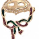 Theatre, Mardigras Mask Broach Pin