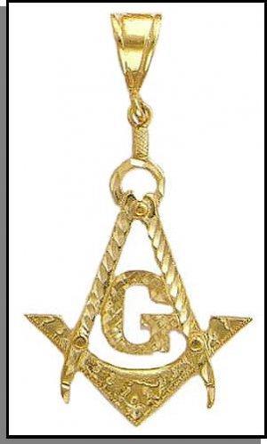 King Sized Gold layered Freemason Masonic Pendant