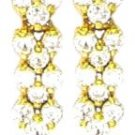 12 Stone Russian CZ Sparkling Dangle Earrings