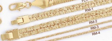 24 Karat Nugget Chain 1/4 Inch Necklace Guaranteed RM-1