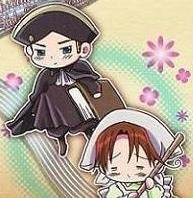 Axis Powers Hetalia Trading Card (Brothers) - HRE & Chibitalia