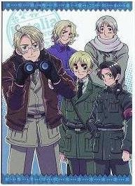 Axis Powers Hetalia Trading Card (Brothers) - SP - America France England Russia China