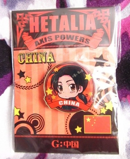 Axis Powers Hetalia Metallic Pin Badge - China