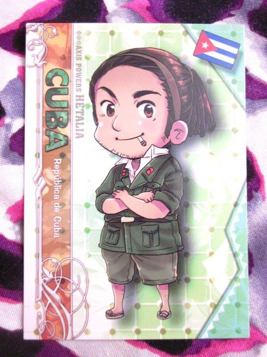 Axis Powers Hetalia Trading Card - Cuba Character Card