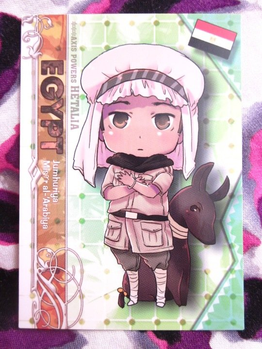 Axis Powers Hetalia Trading Card - Egypt Character Card