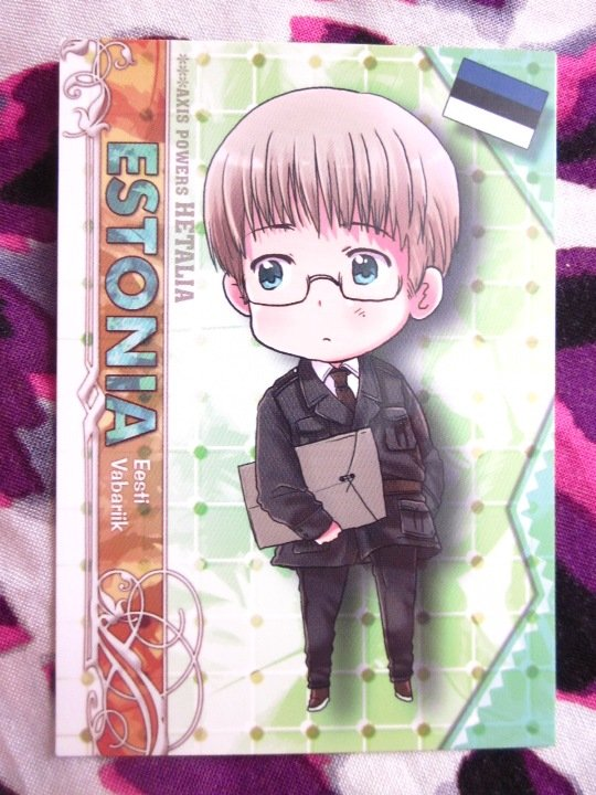 Axis Powers Hetalia Trading Card - Estonia Character Card