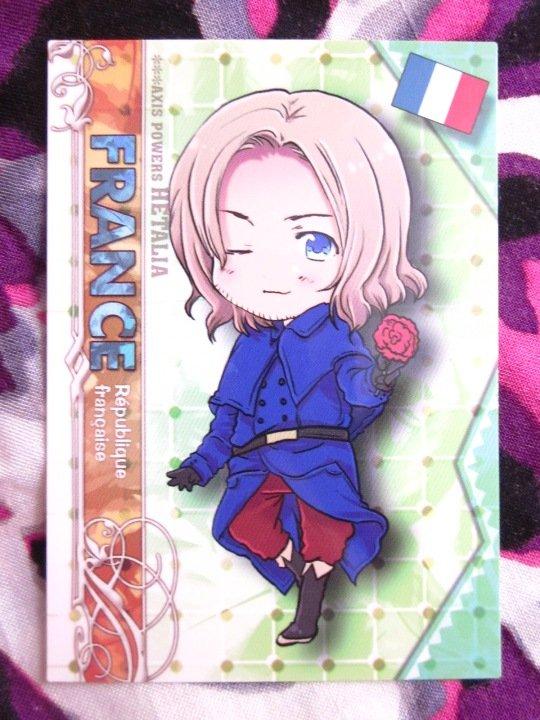 Axis Powers Hetalia Trading Card - France Character Card