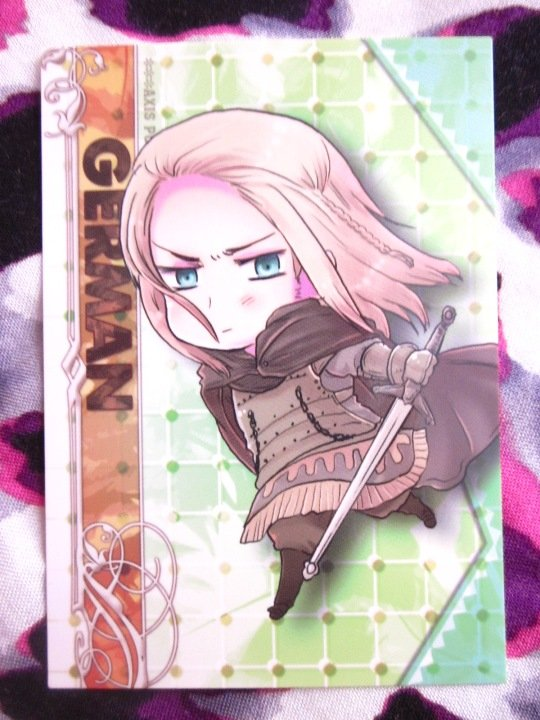 Axis Powers Hetalia Trading Card - Germania Character Card