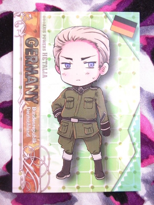 Axis Powers Hetalia Trading Card - Germany Character Card