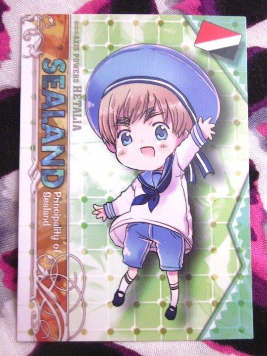 Axis Powers Hetalia Trading Card - Sealand Character Card