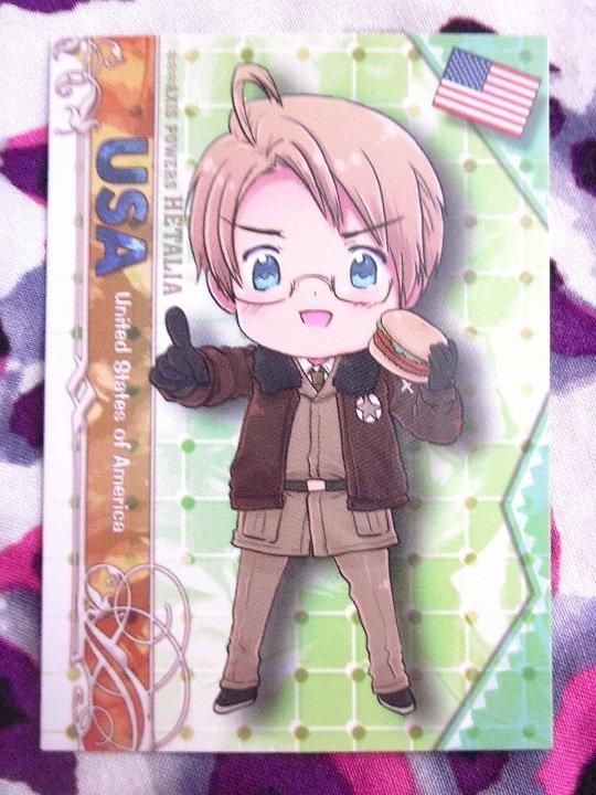 Axis Powers Hetalia Trading Card - USA Character Card