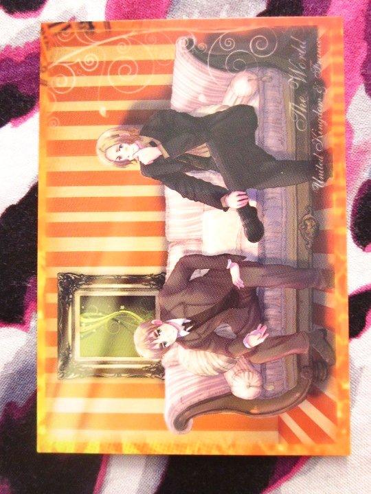 Axis Powers Hetalia Trading Card - UK/France Illustration Card