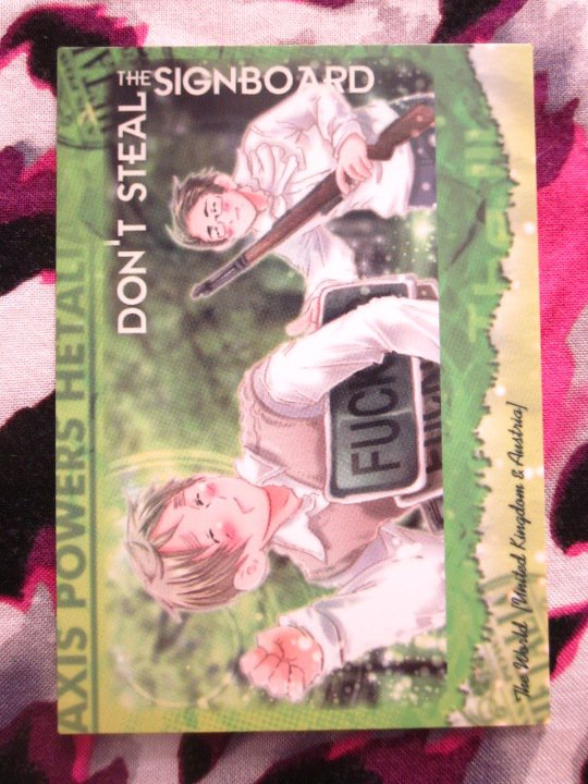 Axis Powers Hetalia Trading Card - Don't Steal The Signboard Card