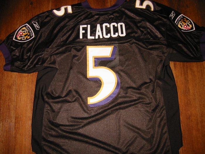 Joe Flacco Ravens Alternate Black Jersey size 52