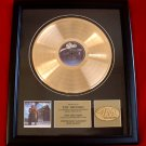 "STEVIE RAY VAUGHAN GOLD RECORD AWARD ""SOUL TO SOUL"""