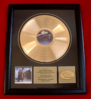 """STEVIE RAY VAUGHAN GOLD RECORD AWARD """"SOUL TO SOUL"""""""