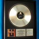 "GUNS N ROSES PLATINUM RECORD AWARD ""APPETITE FOR DESTRUCTION"""