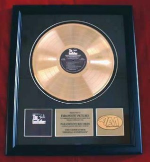 """THE GODFATHER GOLD RECORD AWARD """"PARAMOUNT PICTURES"""""""