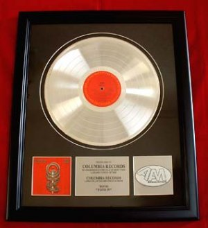 TOTO PLATINUM RECORD AWARD - FREE SHIPPING!