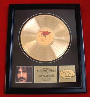 "FRANK ZAPPA GOLD RECORD AWARD ""APOSTROPHE"""