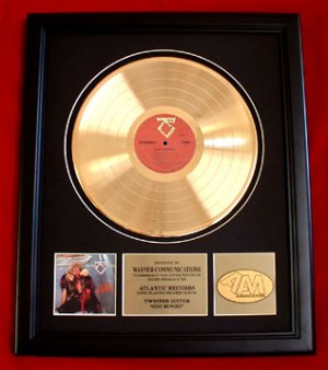 TWISTED SISTER GOLD RECORD AWARD - FREE SHIPPING!