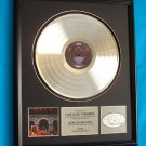 "RUSH PLATINUM RECORD AWARD ""MOVING PICTURES"""