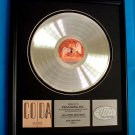 "LED ZEPPELIN PLATINUM RECORD AWARD ""CODA"""