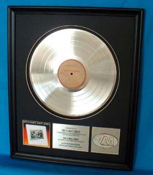 """LYNYRD SKYNYRD PLATINUM RECORD AWARD """"FIRST AND LAST"""""""