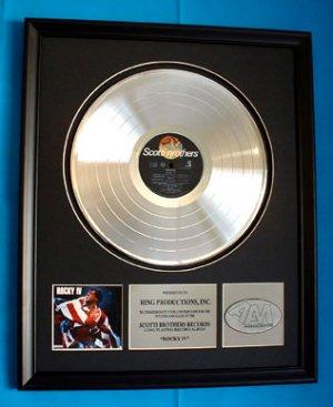 ROCKY IV PLATINUM RECORD AWARD