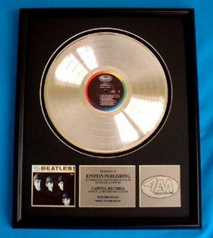 "THE BEATLES PLATINUM RECORD AWARD ""MEET THE BEATLES"""
