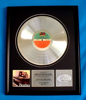 "BETTE MIDLER PLATINUM RECORD AWARD "" BEACHES"""