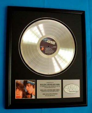 "ROLLING STONES PLATINUM RECORD AWARD ""BLACK AND BLUE"""