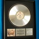 CHICAGO 17 PLATINUM RECORD AWARD