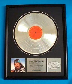 "WILLIE NELSON PLATINUM RECORD AWARD ""ALWAYS ON MY MIND"""