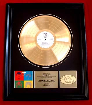 "QUEEN GOLD RECORD AWARD ""HOT SPACE"""