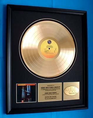 DEPECHE MODE GOLD RECORD AWARD - SIRE RECORDS