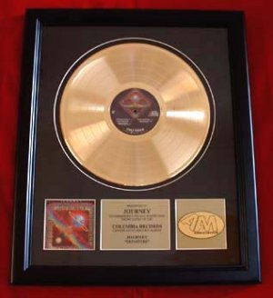 """JOURNEY GOLD RECORD AWARD """"DEPARTURE"""""""