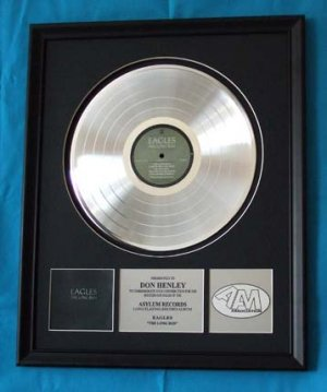 "EAGLES PLATINUM RECORD AWARD ""THE LONG RUN"""
